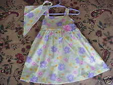 *NWOT* Sleeveless Floral Dress Green Pink Purple 24 mos