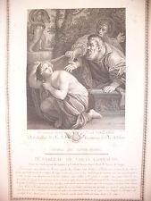 SUSANNA CON I VECCHI  - 1786 PALAIS ROYALE -  LUIGI CARRACCI