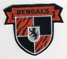 "NFL CINCINNATI BENGLES 3 5/8"" Crest Embroidered Patch"