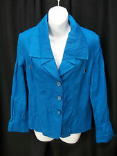 WOMENS CHICOS ROYAL BLUE JACKET SIZE 0 SMALL/MEDIUM