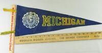 VTG Felt Pennant Historical Rare 1950s University of Michigan
