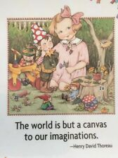 Mary Engelbreit Handmade Magnets-The World Is But A Canvas