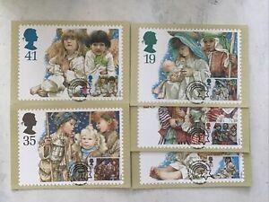 GB QEII 1994 Christmas Set Of 5 FDI PHQ 166 Bureau SHS To Front Unaddressed