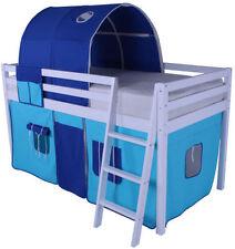 White Loft Beds Bases for Children
