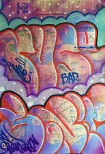 SONIC BAD & RUSE BAD - GRAFFITI sur plan de métro NYC /seen/futura/taki/cope2