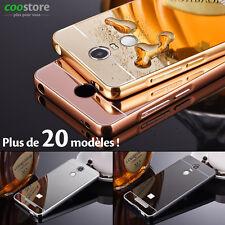 Etui Housse Coque Aluminium Métal Bumper + Miroir Arrière Plastique Pour Xiaomi