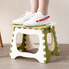 Folding Step Stool Plastic Bench for Kids Travel Outdoors Kitchen Bathroom E4A0