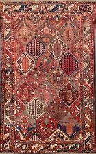Geometric Semi Antique Bakhtiari Hand-knotted Area Rug Wool Oriental Carpet 5x6