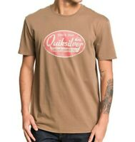 QUIKSILVER MENS T SHIRT.NEW WHAT WE DO BEST BROWN COTTON SHORT SLEEVED TOP 9W 92