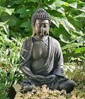 BUDDHA SKULPTUR 41cm HÖHE GRAU BRAUN FENG SHUI STATUE FIGUR MODELL NEU