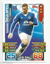 2015 / 2016 EPL Match Attax Base Card (105) Gerard DEULOFEU Everton