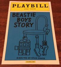 Beastie Boys Story Playbill Kings Theatre Nyc April 2019 Adrock Mike D Brooklyn