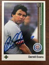 DARRELL EVANS 1989 UPPER DECK AUTOGRAPHED SIGNED AUTO BASEBALL CARD 394 TIGERS