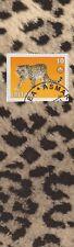 Leopard - Eritrea Postage Stamp on decorative paper, laminated bookmark