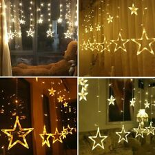 3M US Star Lights String Stars LED Window Curtain Lce Strip DIY Party Decor WF