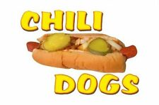 Chili Dogs 9''x13'' Decal for Hot Dog Cart or Concession Trailer Sign or Banner