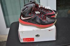 Nike Lebron James X Pressure 542244 001 Flywire Black Red Shoes Mens SZ 12