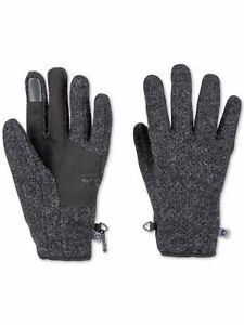 Marmot Mens Gray Wool Blend Slip On Touchscreen Compatible Gloves XL