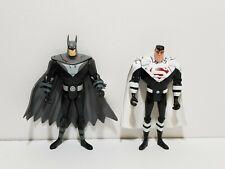 "2003 Justice League Unlimited JLU Justice Lord Superman, Batman 4"" Figures Lot"