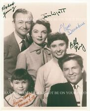 FATHER KNOWS BEST CAST AUTOGRAPHED 8x10 RP PHOTO ROBERT YOUNG