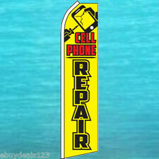 CELL PHONE REPAIR FLUTTER FLAG Tall Advertising Sign Feather Swooper Banner 1818