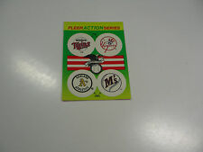 1990 Fleer Logo Stickers Twins/Yankees/Athletics/Mariners Baseball Quiz on back