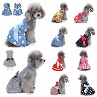 Small Dog Cat Bow Tutu Dress Lace Skirt Pet Puppy Princess Apparel Clothes XS-L