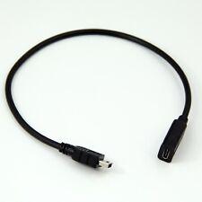 Mini USB Macho a Hembra USB Tipo C Jack Cable Adaptador Convertidor de Cable de plomo