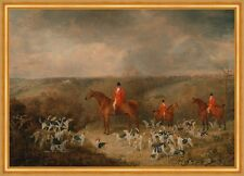 Lord Glamis and his Staghounds Dean Wolstenholme Younger Jagd Hunde B A2 01390