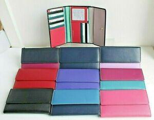 RFID Protected Golunski Medium Tri fold Leather Purse * Various colours