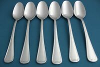"""6 Place Oval Soup Spoons Oneida FLAMBE 18/10 Stainless 7 1/2"""""""