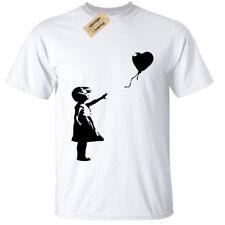 Banksy Girl With Balloon Mens T-Shirt Funny Urban Graffiti Art Banksey