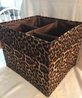 Joy Mangano Collapsible Chic Organize-It-All Storage Cube Leopard