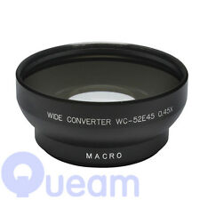 52mm 0.45X Wide Angle Lens With Macro Black For Canon Nikon Sony Pentax Olympus