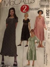 McCalls Sewing Pattern 3361 2 Hour Dresses 7-8-10 Uncut