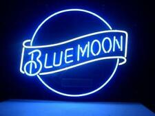"New Blue Moon No Board Beer Lager Man Cave Neon Light Sign 24""x20"""