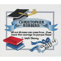 "Janlynn Counted Cross Stitch Kit 13""X10""-Graduation Dreams (14 Count), 21-1372"