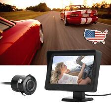 """4.3"""" TFT LCD Car Rear View Mirror Monitor + Night Vision Backup Reverse Camera"""