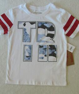 True Religion Sliced TR T-Shirt - Camo Print - White - Boy's Size 5 -NWT $39