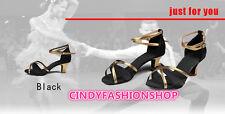 Hot Brand New Woman Ballroom Latin Tango Dance Shoes 5CM Heeled Dancing Salsa