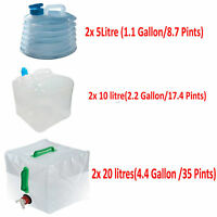 5l/10//20L Camping Water Carrier Container Foldable Collapsible With Tap