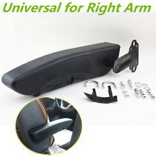 1x Universal Folding Car Seat Armrest Custom Right Arm Support Black w/ Mounts
