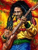 DIY Diamond Painting Kit Cross Stitch Singer Bob Marley Embroidery Picture Art