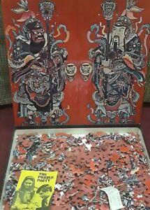 Vintage 1967 Springbok Puzzle Chinese Door Guardians Rare 450+pcs Confucius Old