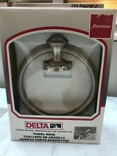 Delta Towel Ring #73046NC in Chrome/Pearl Nickel