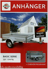 Stema Anhänger Basic Serie + Zubehör Prospekt 2013 1/13 brochure trailer catalog