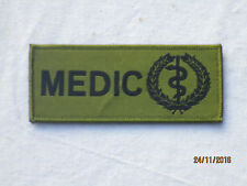 Medic, medical unit ID Patch, de velcro, verde oliva