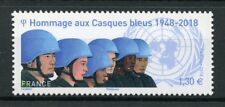 France 2018 MNH UN United Nations Blue Helmets Peace 1v Set Military Stamps