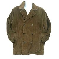 Old Navy Mens Double Breasted Jacket Brown Corduroy Blazer Coat Size Small