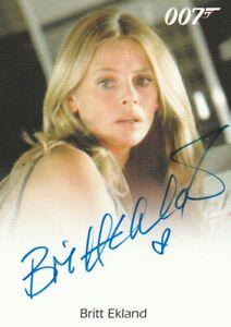 2016 007 James Bond Archives Spectre Britt Ekland autograph Mary Goodnight
